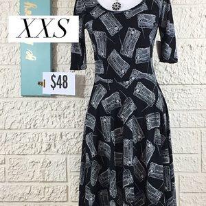 XXS LuLaRoe Nicole Dress NWT
